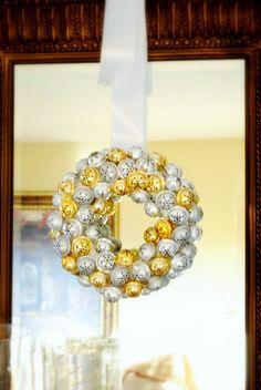 jingle bell wreath- from $ Tree!