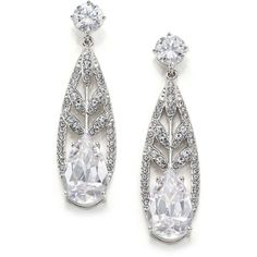 Adriana Orsini Wisteria Pave Crystal Teardrop Earrings ($110) ❤ liked on Polyvore featuring jewelry, earrings, apparel & accessories, silver, womens jewellery, pave crystal jewelry, crystal tear drop earrings, crystal jewellery and crystal stone jewelry