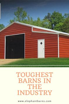 Why trust any old barn to protect your animals and valuables when you could trust an Elephant Barn. Metal Carports, Handyman Projects, Carport Designs, Metal Barn, Backyard Sheds, She Sheds, Built In Storage, Barns, Home Improvement