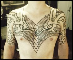 Nordic Wyrms with polynesian inspired design by Meatshop Tattoo
