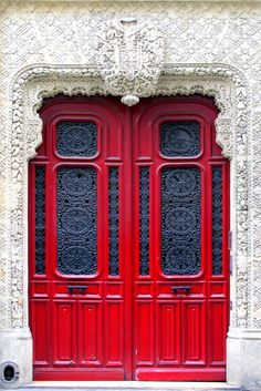 I wonder if I could convert armoire doors to bedroom doors, then paint them in bold colors.  How cool would THAT me?