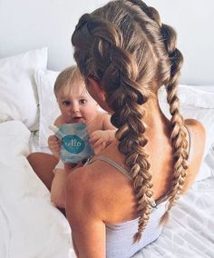 Dutch braided pigtail style