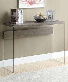 Look at this #zulilyfind! Dark Taupe Tempered Glass Console Table #zulilyfinds