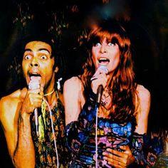 Gilberto Gil e Rita Lee, singers.