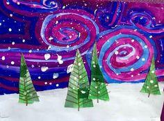 Winter art projects, winter crafts for kids, school art projects,