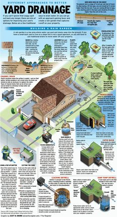 Perfect Collect or drain Ways to handle water on your property