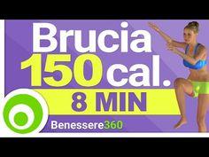Allenamento Aerobico di 8 Minuti per Bruciare 150 Calorie in 8 Minuti e Dimagrire - Fitness a Casa - YouTube