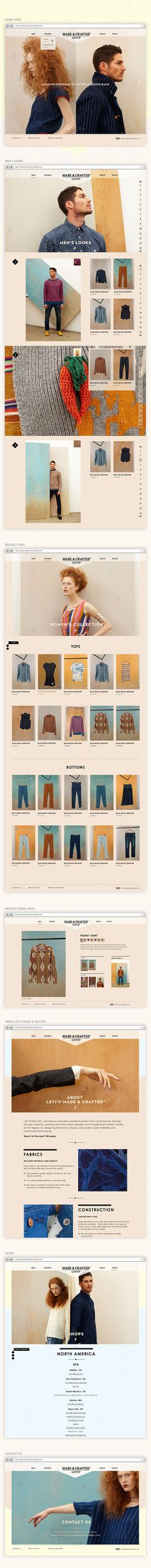 Levi's Made & Crafted by Annmarie Akong, via Behance