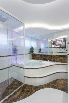 Banheiros com box de painel de bolhas lindos! Saiba mais sobre essa tendência! - Decor Salteado - Blog de Decoração e Arquitetura