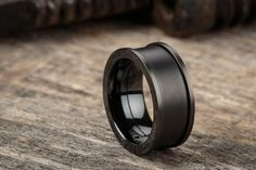 Matte x Black - Stainless steel, matte black plated interchangeable ring | Vitaly
