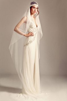 Best bridal looks from Fall Temperley London wedding dress Wedding Dresses 2014, Wedding Gowns, Wedding Pants, Bridal Veils, Bride Gowns, Prom Dresses, Bridal Looks, Bridal Style, 1920s Glamour