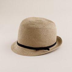 4fd6798513354f adorable classic straw fedora from j.crew Straw Fedora, Fedora Hat, Italian  Leather