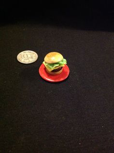 1/12 scale polymer clay burger