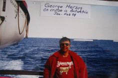 George Herzog on a cruise in 1994 wearing a Young's Dairy t-shirt