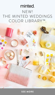 Bring your unique style to life with Minted's library of decor and favors, curated in a beautiful array of colors to complement your wedding look.