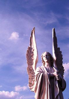 angelic face on Angel statue,