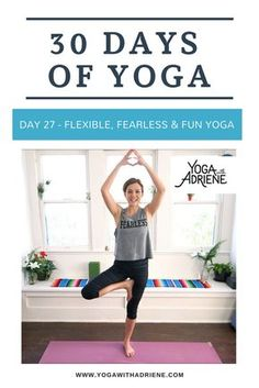 30 Days Of Yoga - Day 27! This 16 min practice is a great reminder that we can have fun on the mat. We don't need to take yoga so seriously to have a connected and focused practice. We don't need to be so serious to get a workout. Let's have some fun as we explore on our mat and check in with the present moment. Health | Wellness | Yoga Challenge | Fitness | Self-love | Yoga Videos