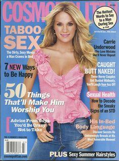 Cosmopolitan magazine Carrie Underwood Taboo sex Sexual health Summer hairstyles