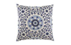 Blue Leaf Spin Down Pillow