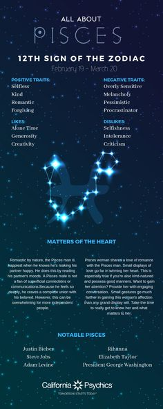 All About Pisces Traits – pisces constellation tattoo Aries, Pisces Traits, Pisces Love, Astrology Pisces, Pisces Quotes, Zodiac Signs Pisces, Zodiac Sign Traits, Pisces Woman, Astrology Numerology