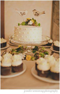 Rustic Wedding Cake Topper Love Birds We Do Vintage Chic Decor (item E10634). $24.99, via Etsy.