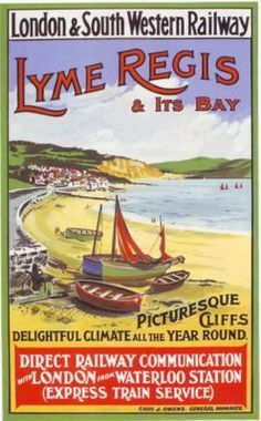 railway-lyme-regis-travel-poster