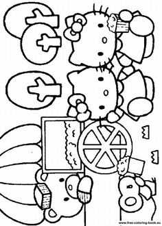 649 Best Hello Kitty Coloring Pages Printables Images On Pinterest