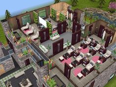 House 105 Wellness Centre level 3 #sims #simsfreeplay #simshousedesign