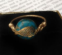 Little Gold Fish Ring by Panzell on Etsy, $10.00