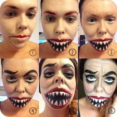 stage makeup half face - Google Search