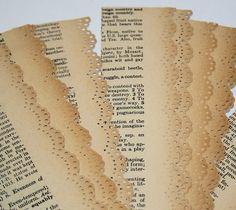 strisce di pizzo di carta