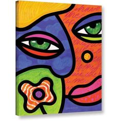 Steven Scott Shirley Whirley Gallery-Wrapped Canvas, Size: 14 x 18, Red