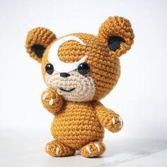 Teddiursa Amigurumi - free Pokemon inspired crochet pattern at knittycatcrochet