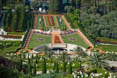 UNESCO World Heritage Site #66: Bahá'i Holy Places in Haifa and the Western Galilee are inscibed for their profound spiritual meaning. The property includes two holy places the Baha'i religion, the Shrine of Baha'u in Acre & the Shrine of the Bao in Haifa & together their surrounding gardens, buildings & monuments.  (photo: top of hill Mount Carmel)