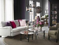 Hampton 3-sits soffa svängd i tyg Dover natur från Mio.