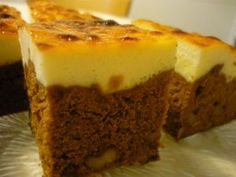 Brownie Cheescake. Receta (recipe, recipe), comida (food, food)