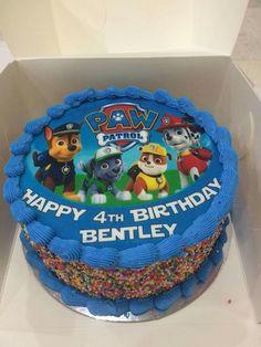 Twin Birthday Cakes, Superhero Birthday Cake, Cupcake Birthday Cake, Baby Boy Birthday, Birthday Ideas, 4th Birthday, Bolo Do Paw Patrol, Torta Paw Patrol, Paw Patrol Cupcakes