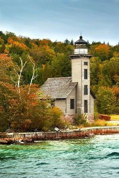 Grand Island lighthouse, Michigan  Stop by my Shop www.etsy.com/shop/teolddesign