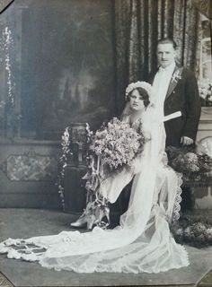 1912 vintage wedding photograph