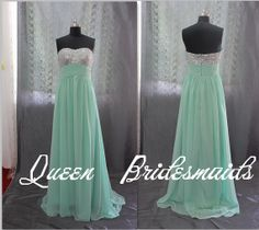 color prom dresses  bridesmaid dresses  Long  by PromQueenDress, $71.00
