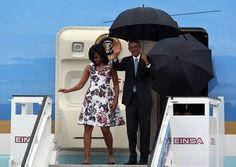 Llega a Cuba el presidente de EE.UU., Barack Obama