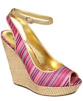 Comes in gorgeos light pink - $99 MACYS -- Nine West Shoes, Karmic Platform Wedge Sandals