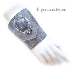Leather  Women's Wallet  Cuff  Wallet  Wrist by DirtPoorCouture