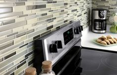 That's our kitchen backsplash!!  ~This glass mosaic is ideal for adding a splash of color or updating the look of any interior application.