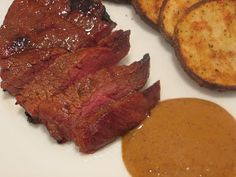 My kids loved this and asked me to make it again.   Jenn's Food Journey: Marinated Chuck Tender Steaks with Bar Americain Steak Sauce