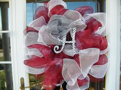 University of Alabama Houndstooth Wreath by CharmedSouth on Etsy, $65.00