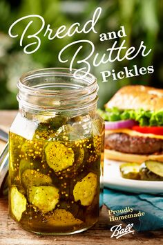 Summertime is all about grilling, and Ball®'s Bread and Butter Pickles are the perfect condiment. These sweet and tangy sliced bread and butter pickles are full of flavor, making this one a family favorite! Homemade Pickles, Pickles Recipe, Canning Vegetables, Veggies, Canning Pickles, Bread & Butter Pickles, Canning Recipes, Canning Tips, Balls Recipe