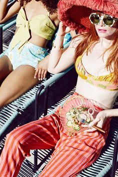 Bon Apetit Magazine channels summer like no other. Shot by Julia Galdo and Cody Cloud of Juco summer editorial pool party High Fashion Photography, Fashion Photography Inspiration, Editorial Photography, Portrait Editorial, Photography Magazine, Pool Party Fashion, Pool Party Outfits, Summer Editorial, Editorial Fashion