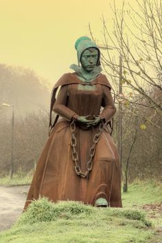 A statue of Alice Nutter, one of the accused and hanged Pendle Witches. The trials of the Pendle witches in 1612 are among the most famous witch trials in English history, and some of the best recorded of the 17th century. The twelve accused lived in the area around Pendle Hill in Lancashire, and were charged with the murders of ten people by the use of witchcraft.