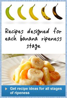 Get recipes ideas for all stages of banana ripeness